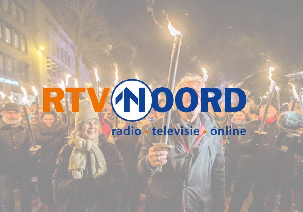 Fakkeloptocht live bij RTV Noord